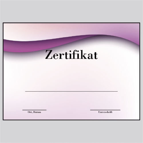 Zertifikat Frankfurt