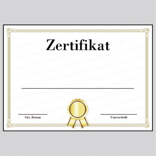 Zertifikat Dresden