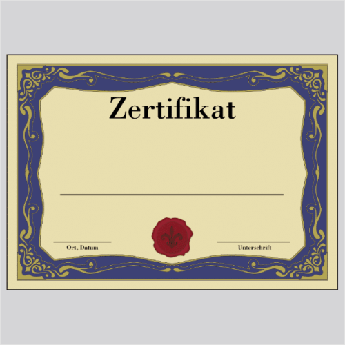 Zertifikat Duisburg