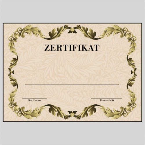 Zertifikat Kiel