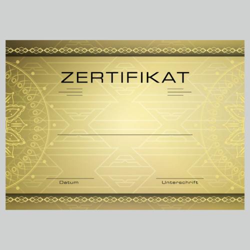 Zertifikat Kahla