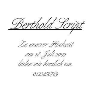 Berthold Script