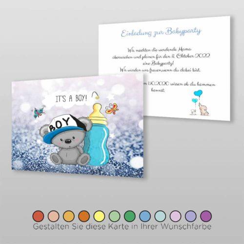 Babyparty Einladungskarte Cary (1)