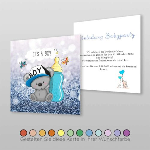 Babyparty Einladungskarte Cary (3)