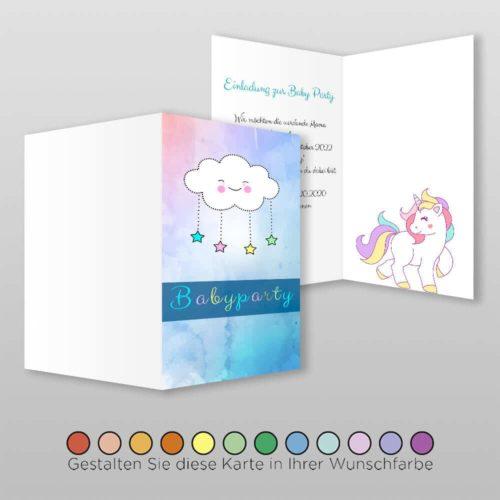 Babyparty Einladungskarte Catie (1)