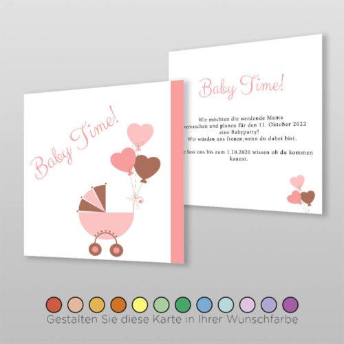 Babyparty Einladungskarte Ceyda (1)