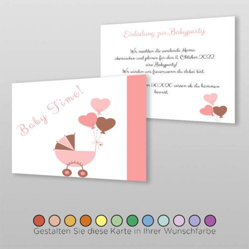 Babyparty Einladungskarte Ceyda (2)