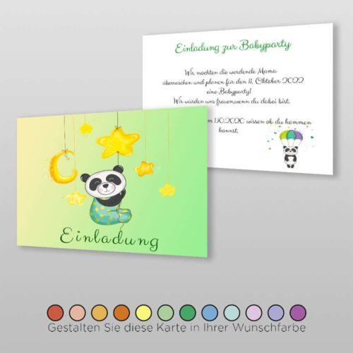 Babyparty Einladungskarte Leia (2)