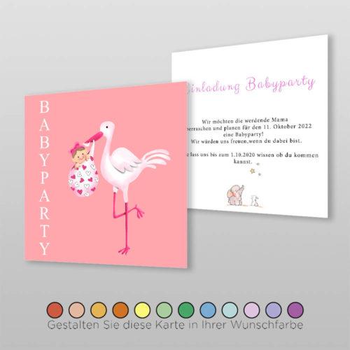 Babyparty Einladungskarte Leni (1)
