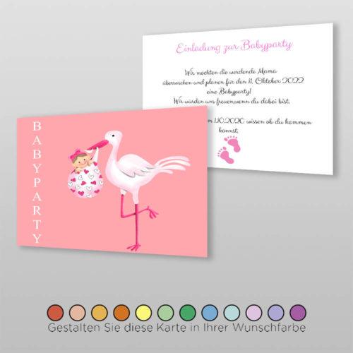 Babyparty Einladungskarte Leni (2)