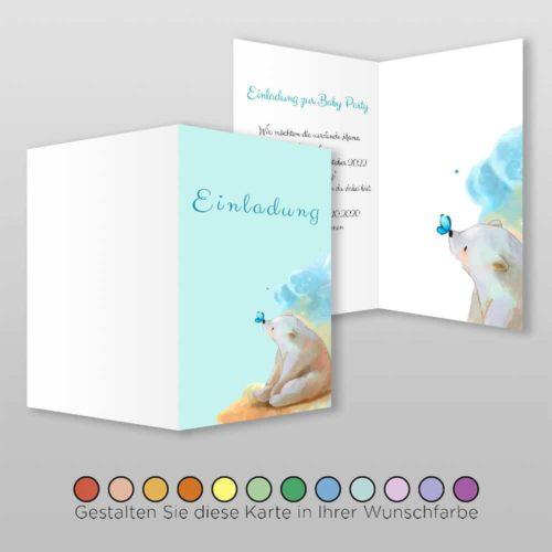 Babyparty Einladungskarte Lexi (1)