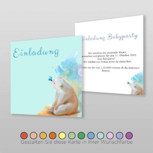 Babyparty Einladungskarte Lexi (2)