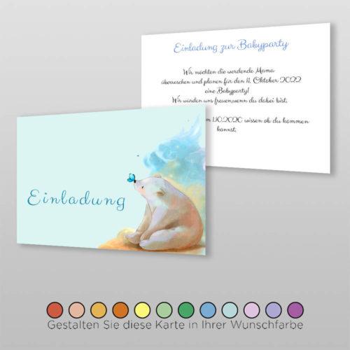 Babyparty Einladungskarte Lexi (3
