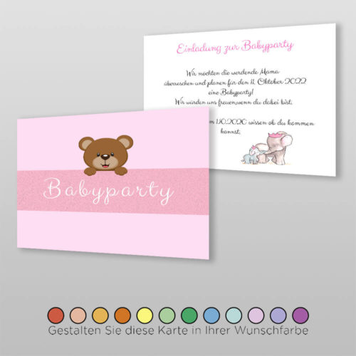 Babyparty Einladungskarte Liba (1)
