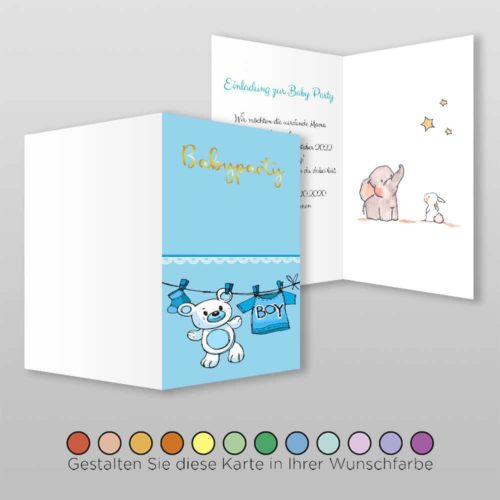 Babyparty Einladungskarte Nala (1)