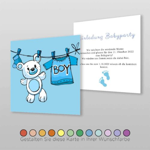 Babyparty Einladungskarte Nala (2)