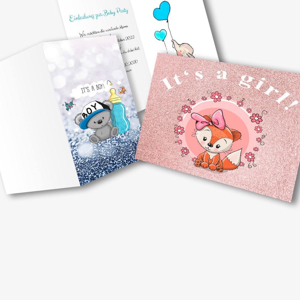 Babyparty Einladungskarten