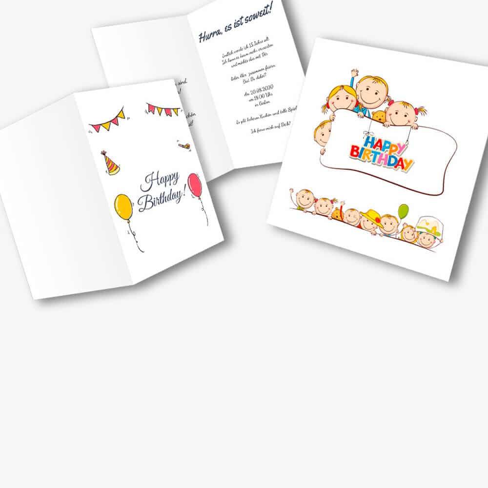 Einladungskarten Kinder Geburtstag