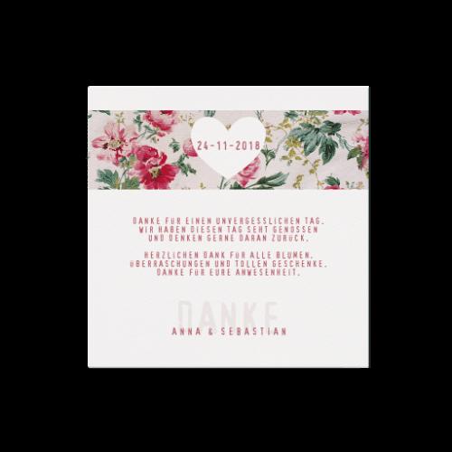 Dankeskarte Flower