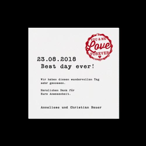 Dankeskarte Liebes Pass
