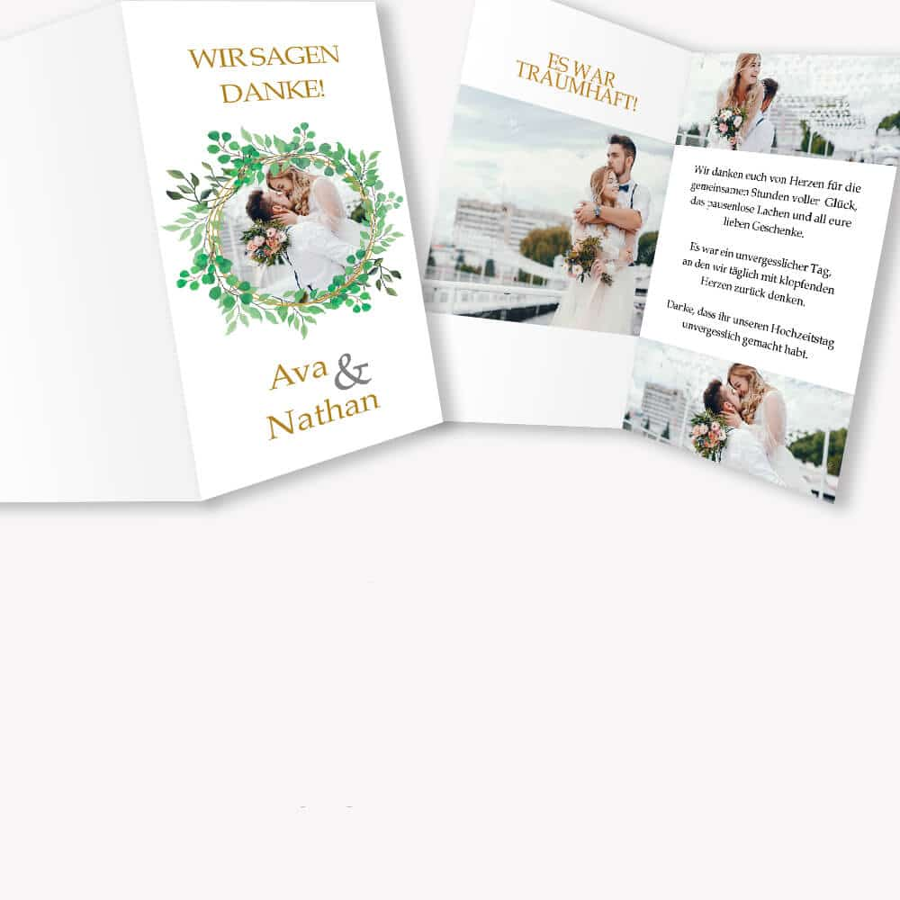Danksagunskarten Hochzeit