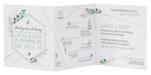 Einladungskarte Indigo 02