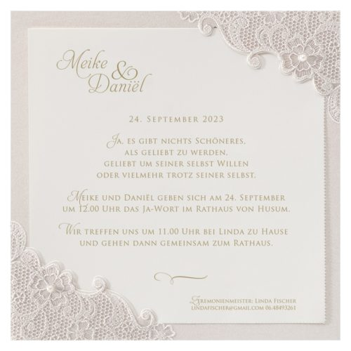 Einladungskarte Ivory 01