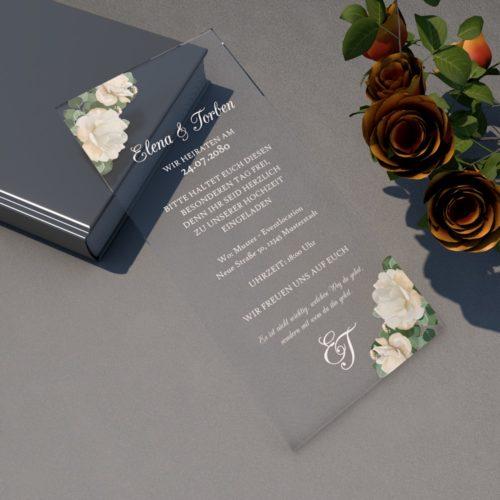 Einladungskarte Plexi DIN-lang 2