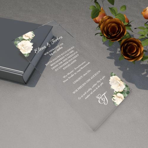 Einladungskarte Plexi Din Lang 03