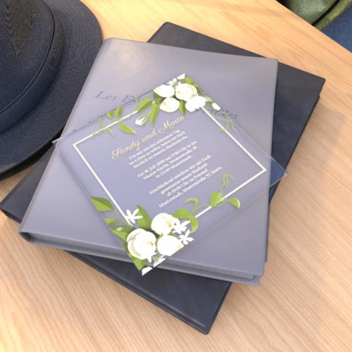 Einladungskarte Plexi Q Editor