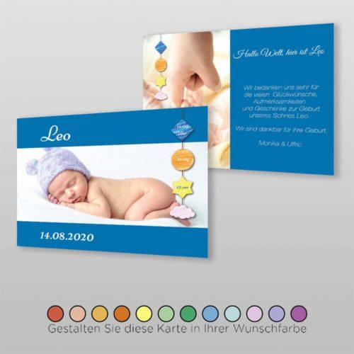 Geburtskarte Deny A6-2Sq