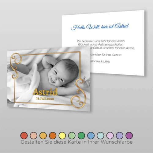 Geburtskarte Glen A6-2Sq