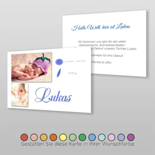 Geburtskarte Talia A6-2Sq