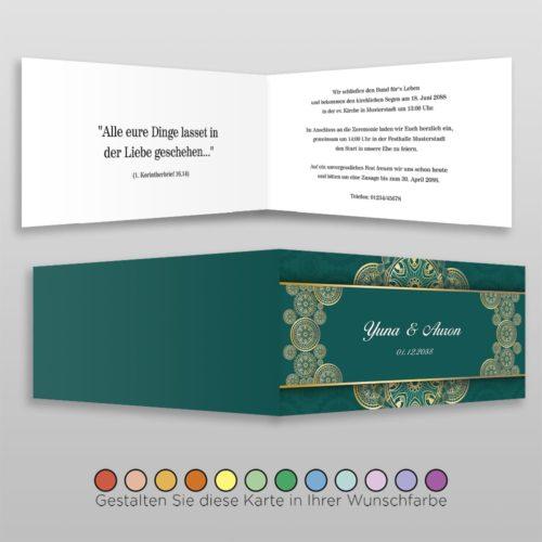 Hochzeitskarte Alisa D-4S