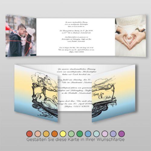Hochzeitskarte Cindi D-6S