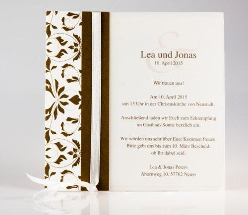 Hochzeitskarte Clea