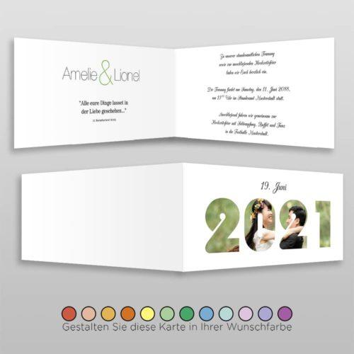 Hochzeitskarte D 4S Amelie