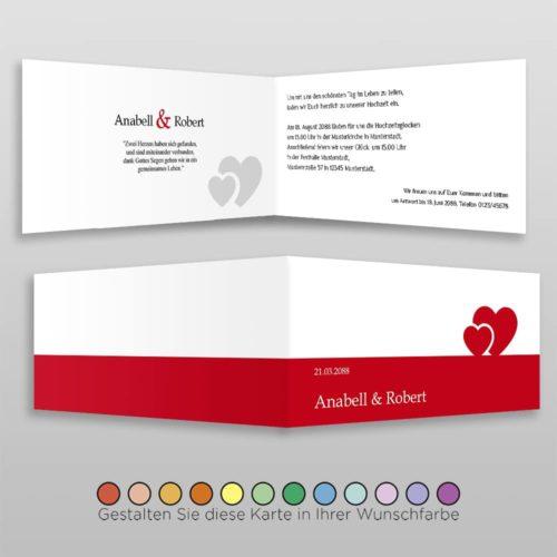 Hochzeitskarte D 4S Anabell
