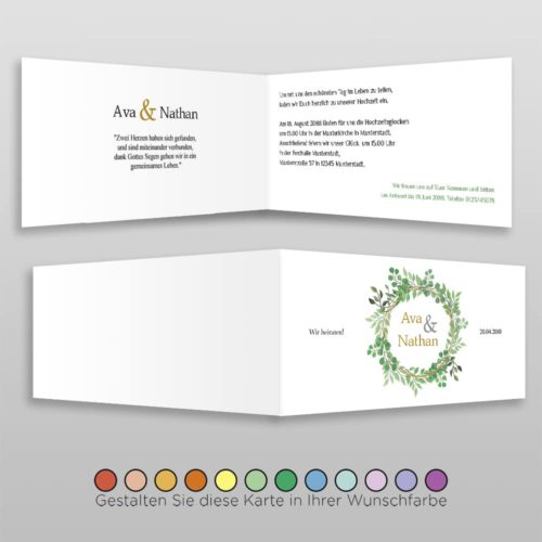 Hochzeitskarte D 4S Ava 2