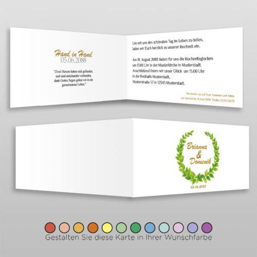 Hochzeitskarte D 4S Brianna