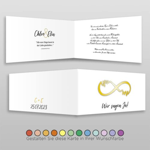 Hochzeitskarte D 4S Chloe