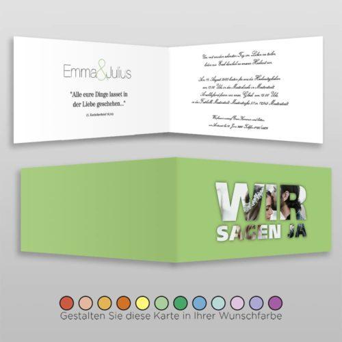 Hochzeitskarte D 4S Emma