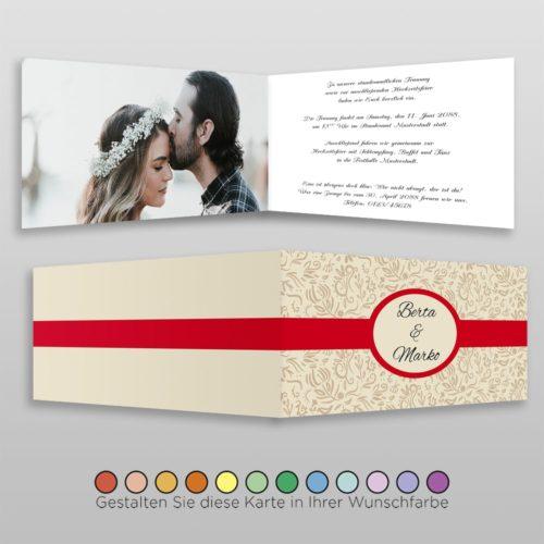 Hochzeitskarte D-4S Fortuna 02