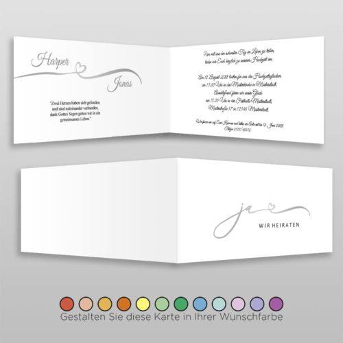 Hochzeitskarte D 4S Harper
