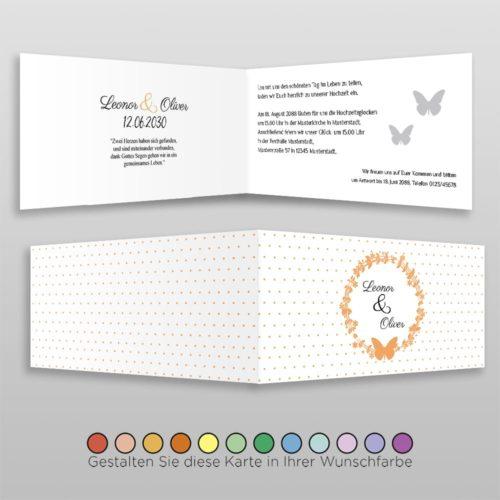 Hochzeitskarte D 4S Leonor