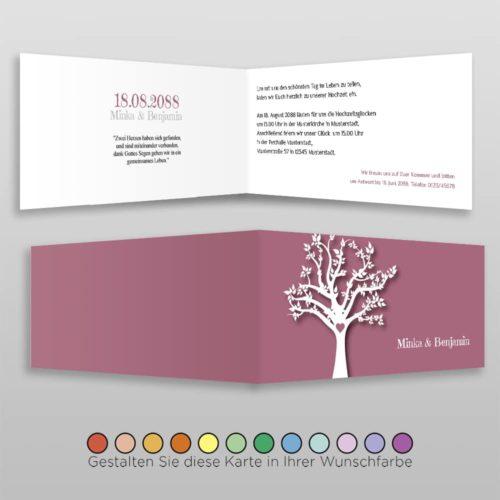 Hochzeitskarte D 4S Minka