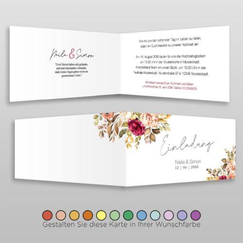 Hochzeitskarte D 4S Naila