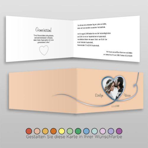 Hochzeitskarte D 4S Nele