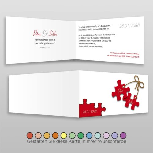 Hochzeitskarte D 4S Petra