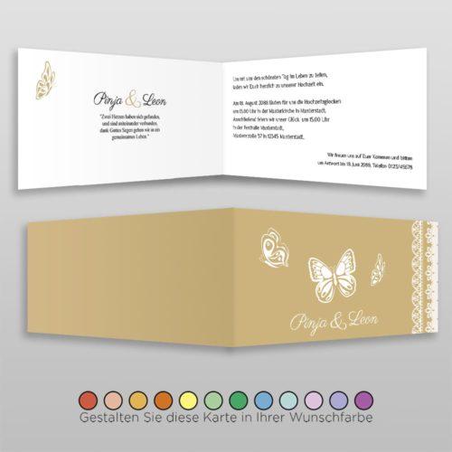 Hochzeitskarte D 4S Pinja